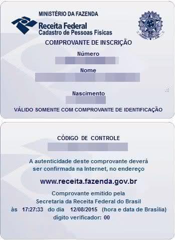 CPF imprimir