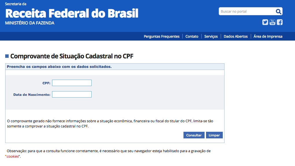 receita federal CPF