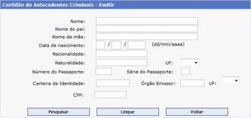 Antecedentes Criminais Polícia Federal