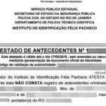 Atestado de Antecedentes Criminais RJ