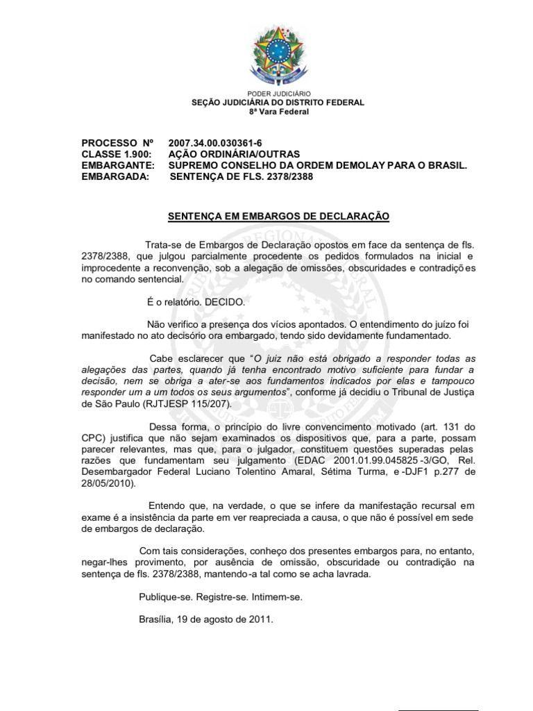 Modelo de Embargos de Declaração 2