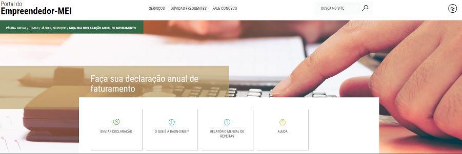 site declaração MEI