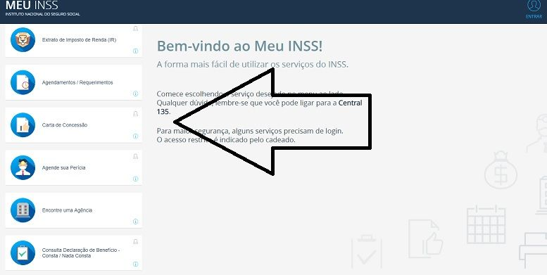 consultar-carta-de-concessão site do inss