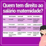 salário maternidade quem tem direito
