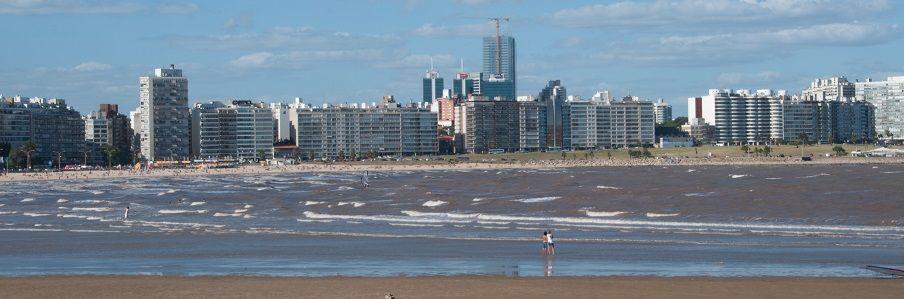 Praia de montevidéu no uruguai