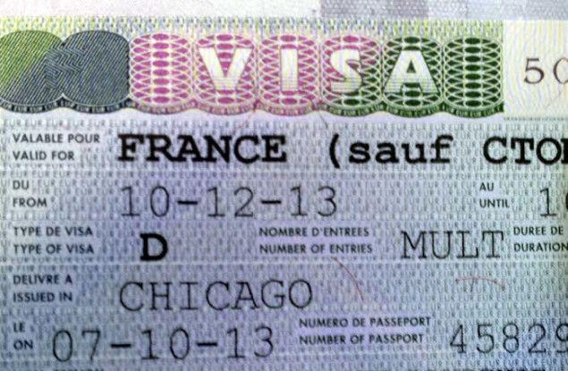 exemplo de visto francês